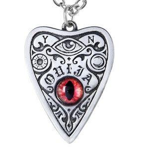 Ouija Planchette Cat Eye Necklace Alchemy Gothic